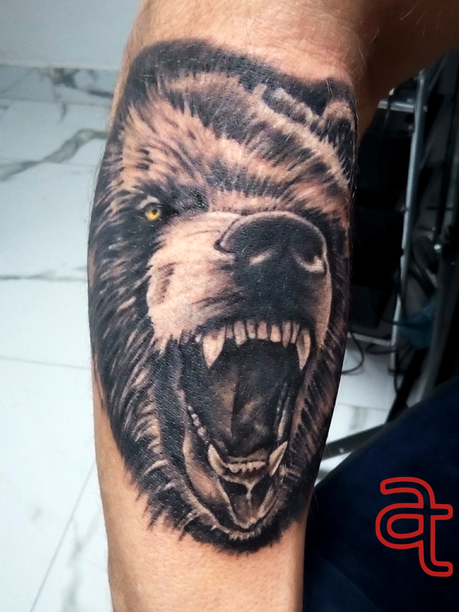 Bear tattoo by Dr.Ink - Atkatattoo - Leeds - United Kingdom