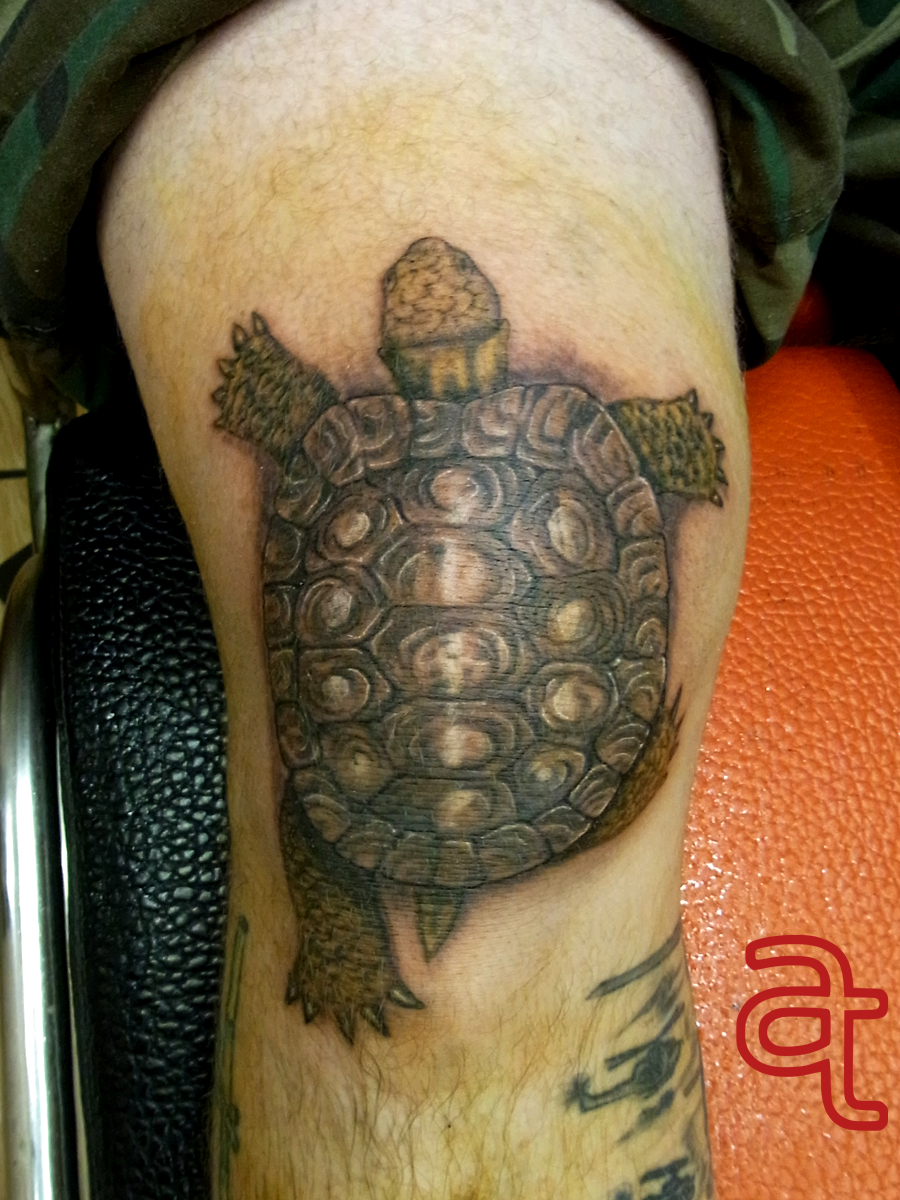 Turtle tattoo by Dr.Ink - Atkatattoo - Phnom Penh - Cambodia